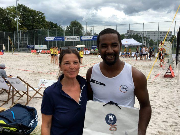Beach-Volleyball Turnier beim OSP Stuttgart mit Cacau